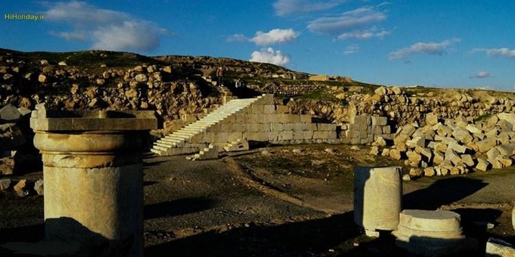 معبد آناهیتا کرمانشاه دومین بنای سنگی ایران