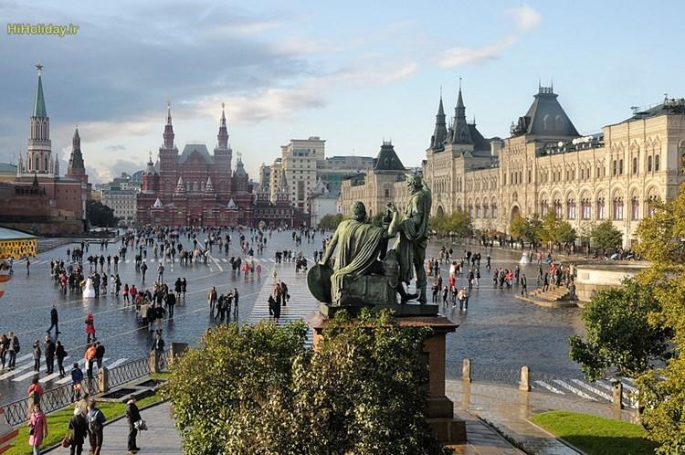 اولین برنامه گردش در تور مسکو