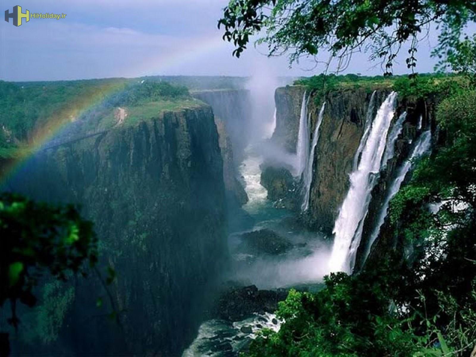 آبشار VICTORIA در ZIMBABWE-ZAMBIA-hiholiday