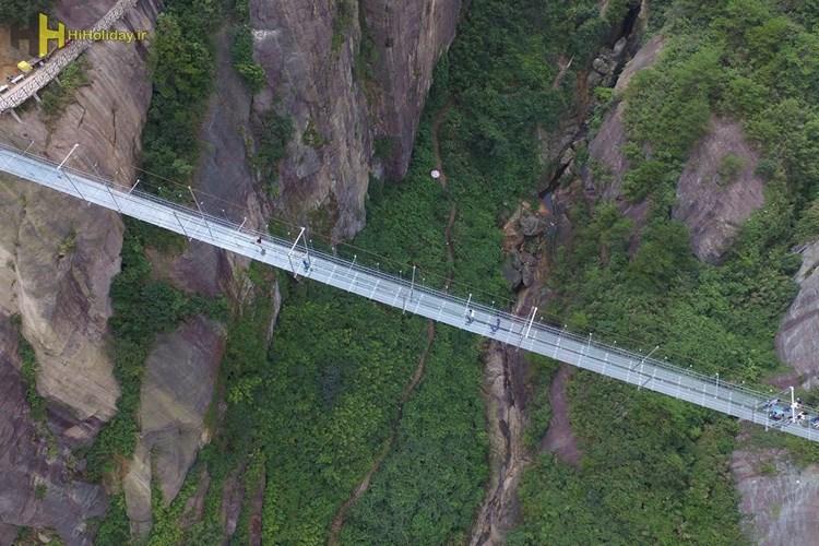 مرتفع ترین پل شیشه ای در چین ساخته می شود