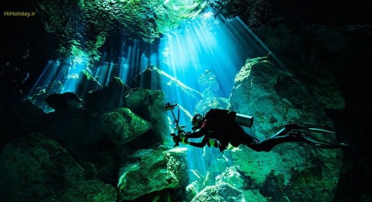 رودخانه ای در زیر آب در مکزیک